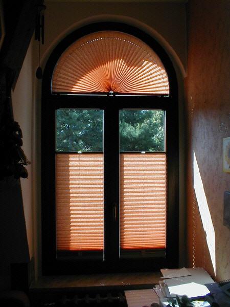 Plissee Rundfenster plissee